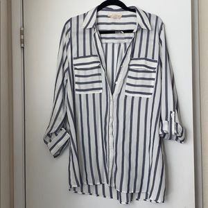 XL Maternity Button Up Blouse